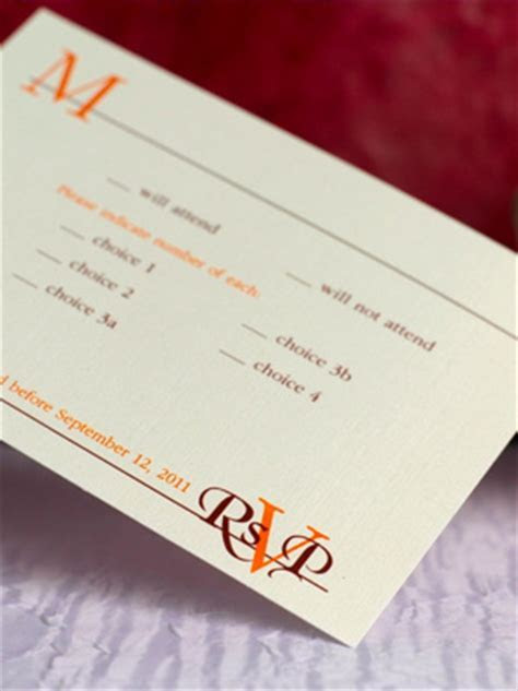 Stylish RSVP Card Wording   Here Comes The Blog