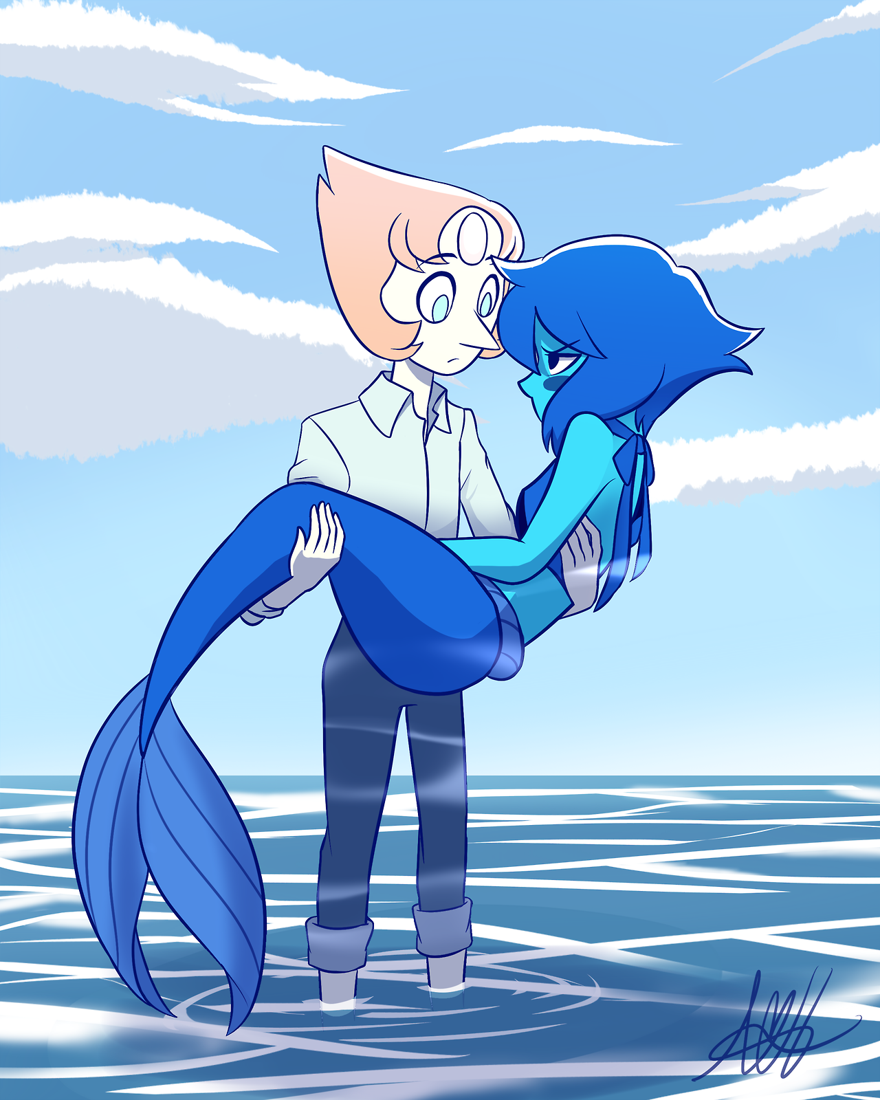 Mermaid Lapis doesn't want to go back to the ocean.