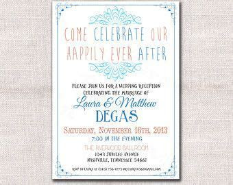 wedding reception only invitation wording samples   Google