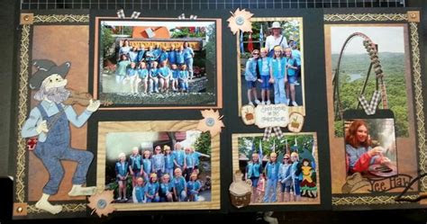 silver dollar city scrapbook layout branson mo layout www