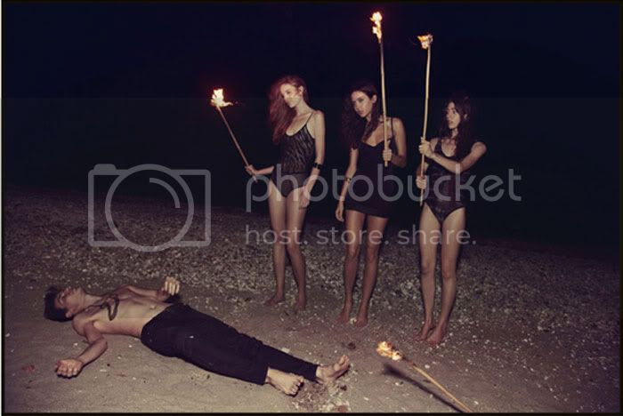 beach,fire,underwear,mystical,cult