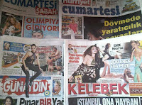 Weekend entertainment supplements from the Turkish press