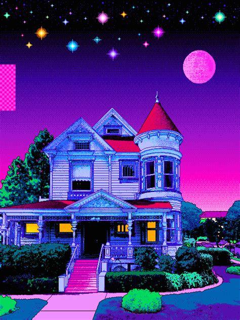 pin  desi  animepixels pixel art vaporwave art