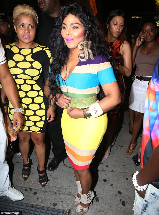 Birthday girl! Lil' Kim made a statement as she celebrated her 39th birthday at Greenhouse in New York on Thursday