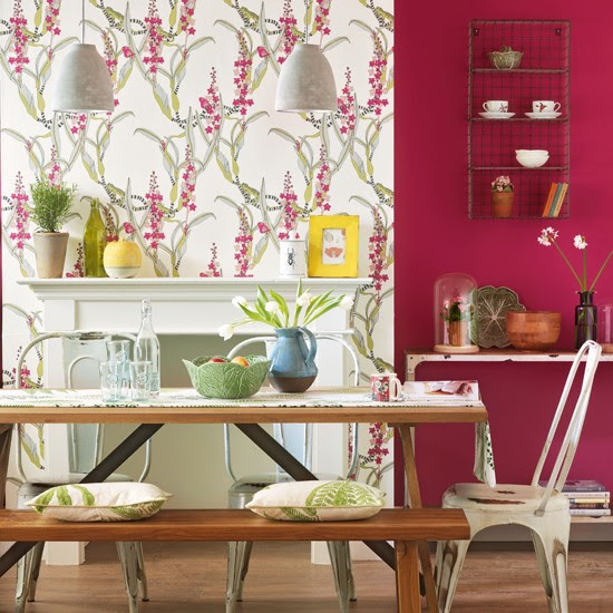 Botanical floral dining room | housetohome.