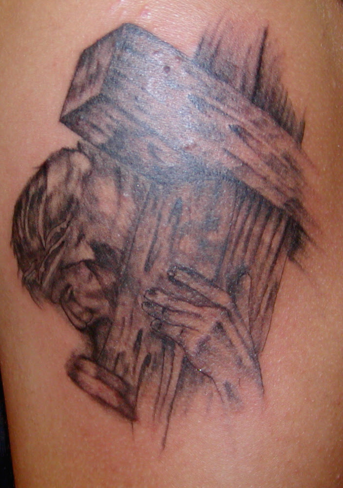 Jesus Carrying The Cross Tattoos Tattoos Designs Ideas