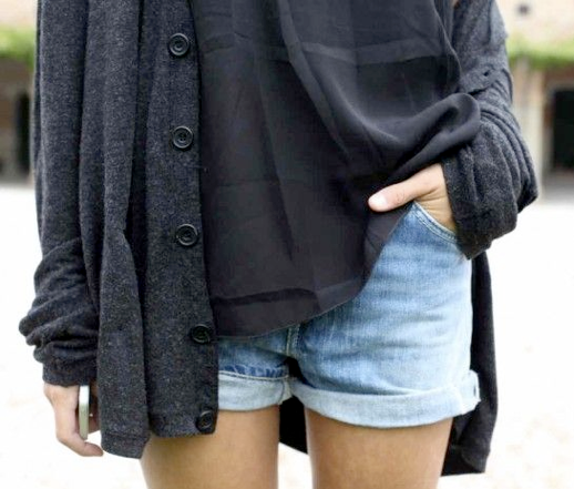 LE FASHION BLOG DENIM SHORTS FALL TRANSITION GRAYS CHIARA BIASI CUFFED DENIM JEAN SHORTS WASHED SILK GREY GRAY TOP GREY GRAY CARDIGAN SWEATER 2 photo LEFASHIONBLOGDENIMSHORTSFALLTRANSITIONGRAYSCHIARABIASI2.png