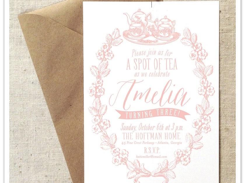 Empress Stationery Spot Of Tea Little Girl S Birthday