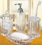 Bathroom Accessories: Crystal Clear Alexandria 4-Piece ...