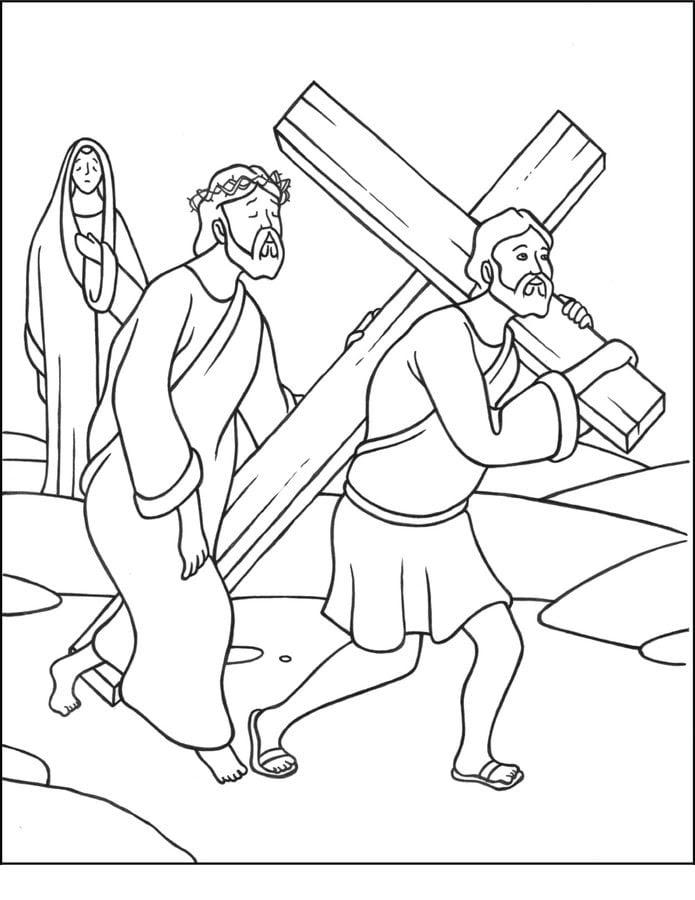 Disegni Da Colorare La Via Crucis Di Ges Stampabile