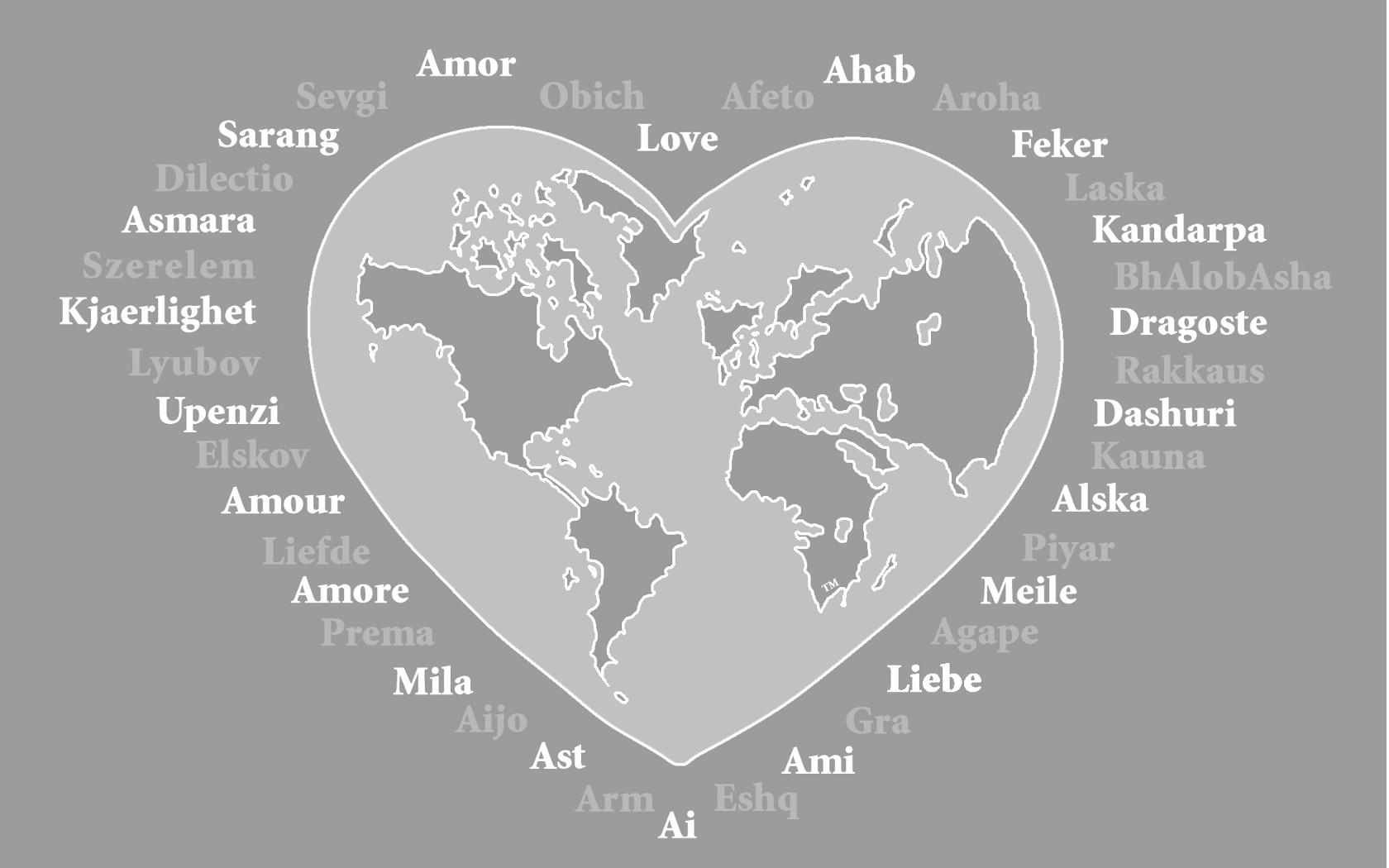 Love In Different Languages Wallpaper 1680x1050 28124