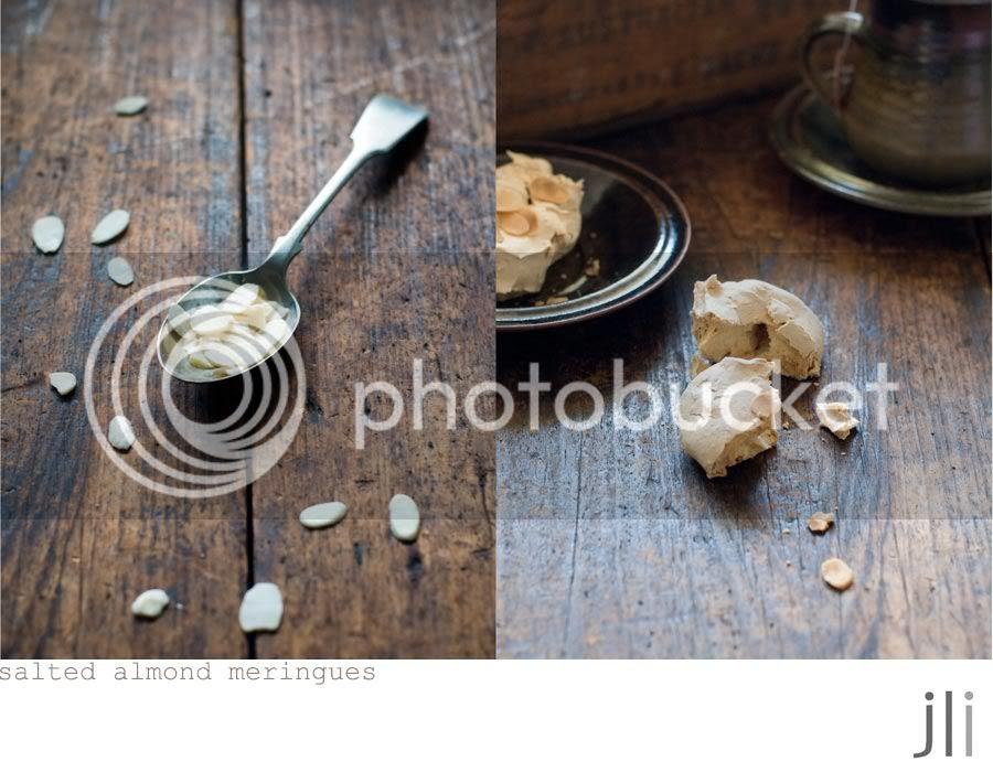 salted almond meringues