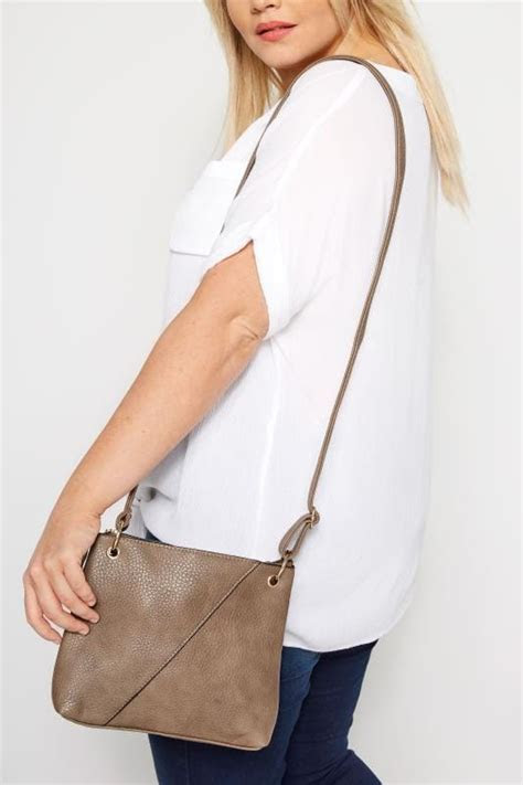 Brown Seam Cross Body Bag   One Size   Yours Clothing