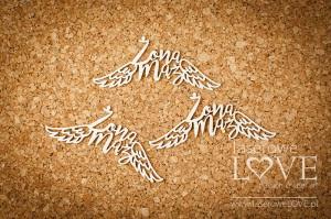 Tekturka - Żona Mąż  ze skrzydłami - Simple Wedding