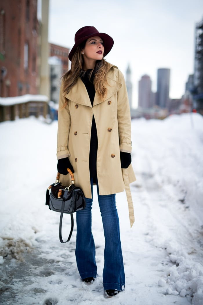 trench coat  winter fashion