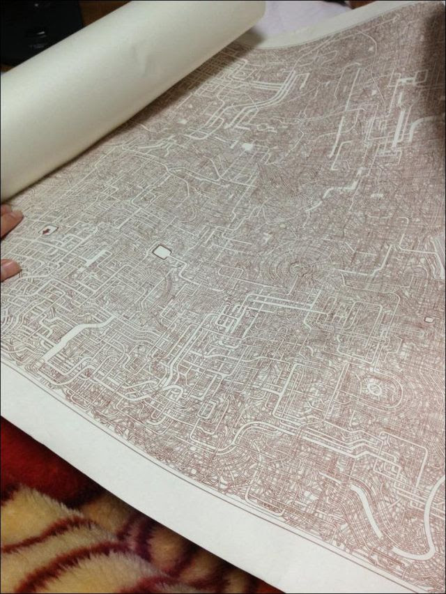 A Complicated Hand Painted Japanese Maze
