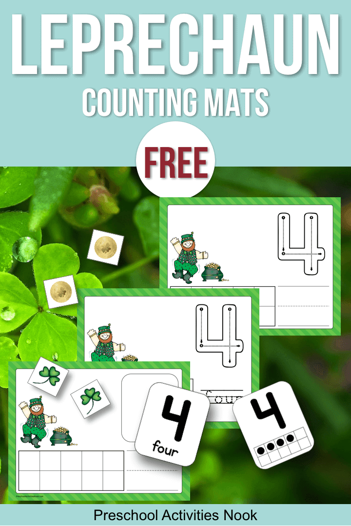 Leprechaun Counting Mats Preschool Activities Nook