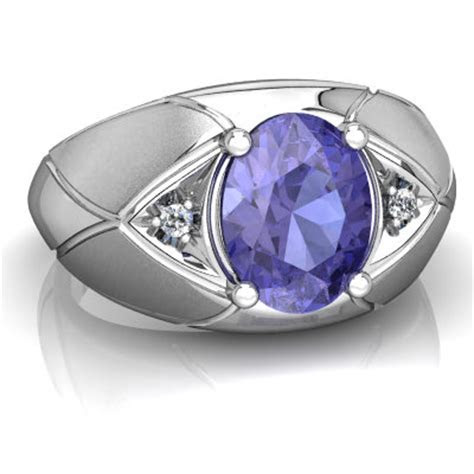 Tanzanite Men's ring R0361 WTANZ