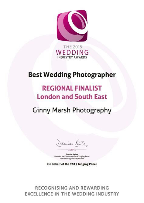 Regional Finalist in the 2015 Wedding Industry Awards!