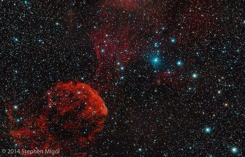 IC 443 Jellyfish Nebula in Jan 2014 by S Migol