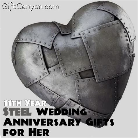 11th Year: Steel Wedding Anniversary Gifts for Her   Gift