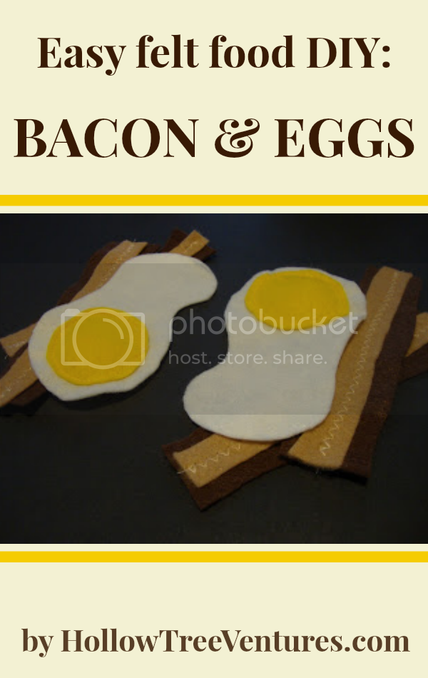Felt food bacon and eggs tutorial by Robyn Welling @RobynHTV