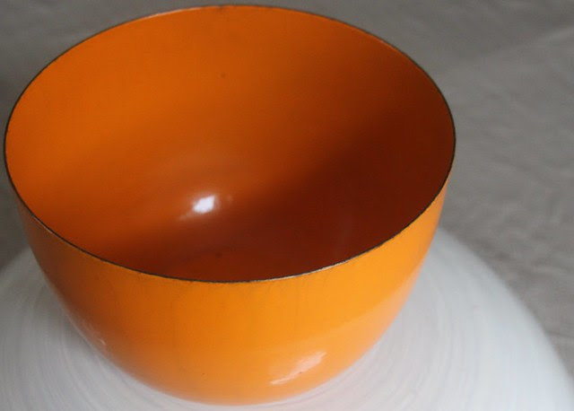 orange enamelware