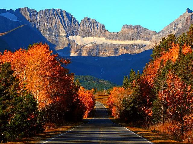 IMG_9972 Many Glacier Road, Autumn Morning, Glacier National Park