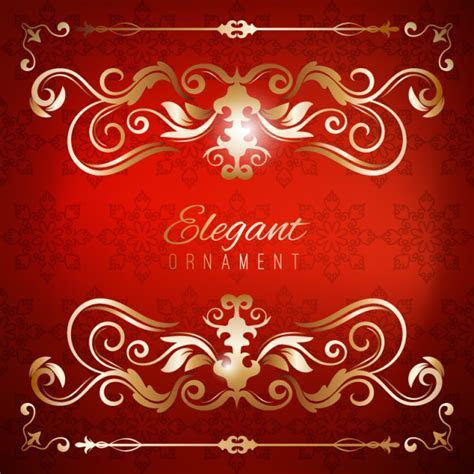 Vintage Invitation Card. Red Luxury Background With Golden