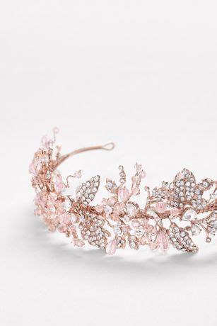 Blooming Vine Rose Gold Headband   David's Bridal
