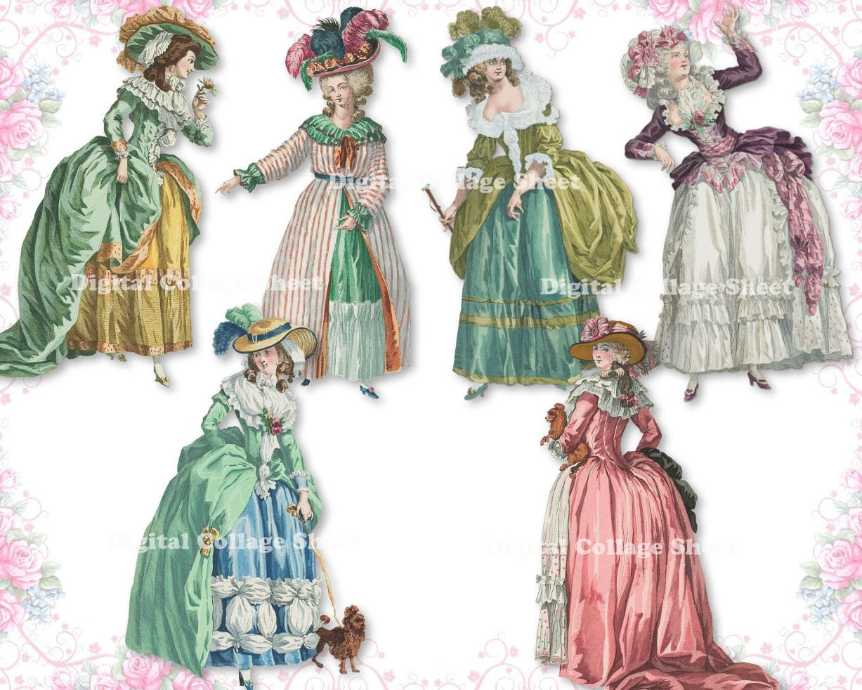 Marie Antoinette 03 digital collage sheet png cutouts