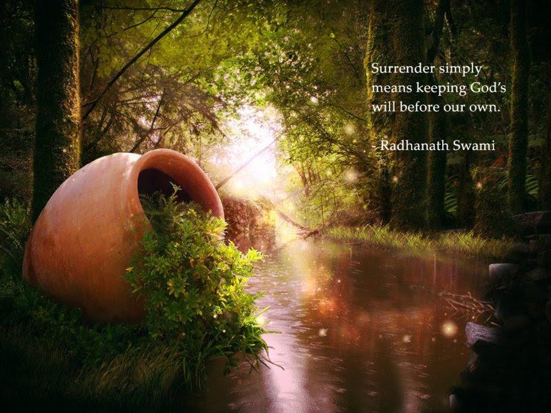 Surrender Spiritual Quotes By Iskcon Desire Tree