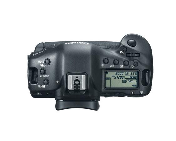 Canon EOS-1D X Top View