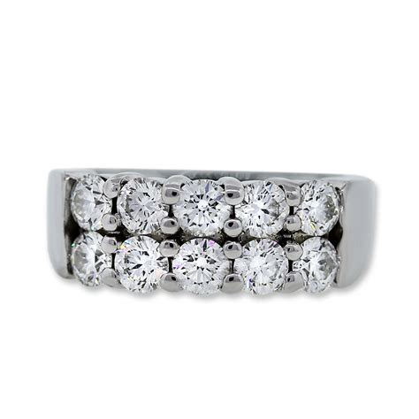 Platinum Hearts on Fire Diamond Wedding Band Ring Boca Raton