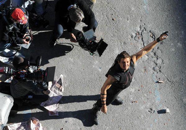 Jeremy Renner is back as Hawkeye in AVENGERS: AGE OF ULTRON.