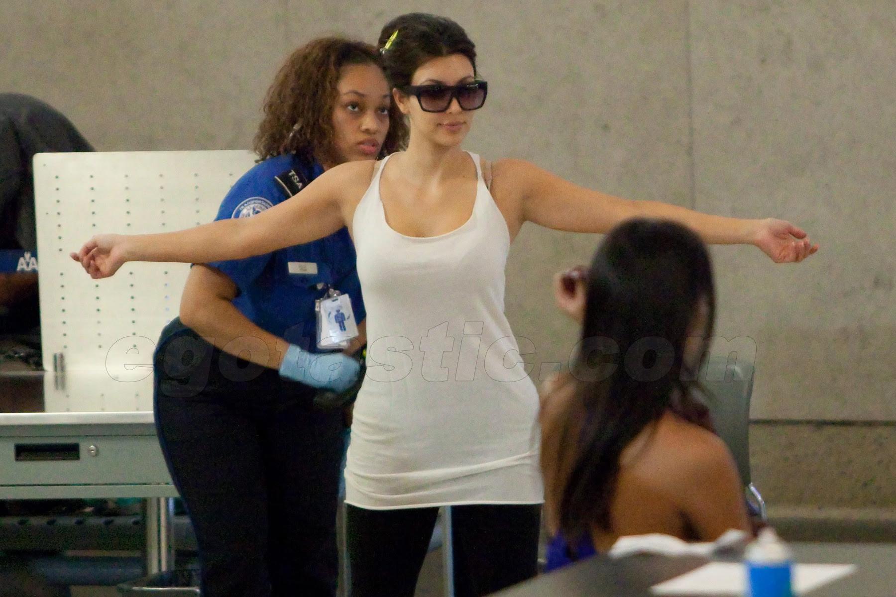 Kim Kardashian strip searched