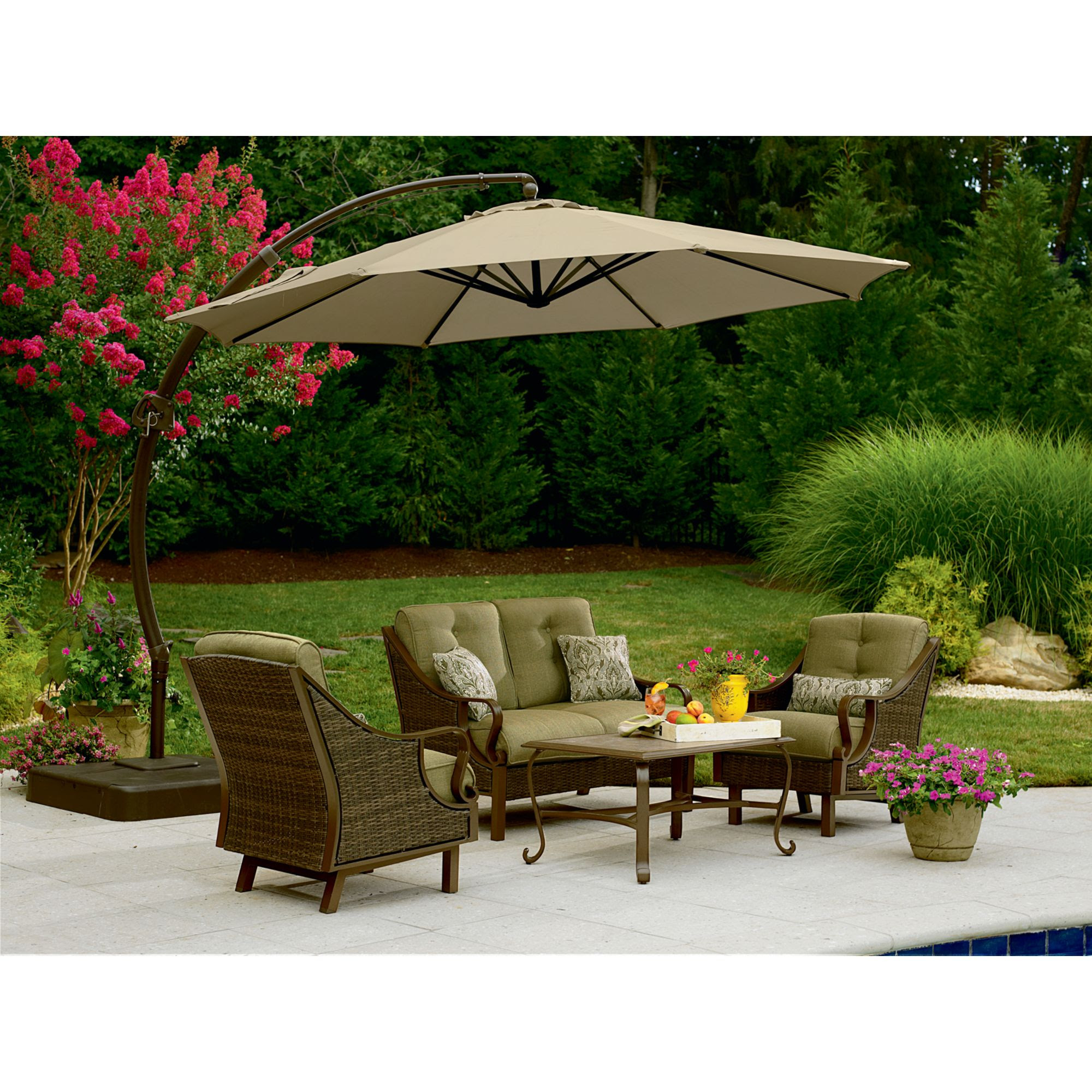 Review Garden Oasis 11.5 Ft. Steel Round Offset Umbrella ...
