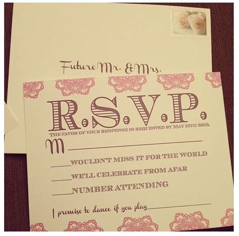 RSVP card with song request   Wedding Ideas   Pinterest