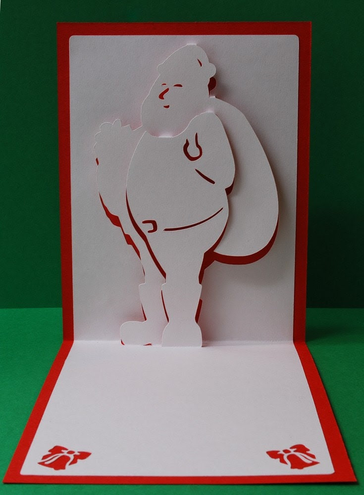 Santa Claus Merry Christmas Pop-Up Card