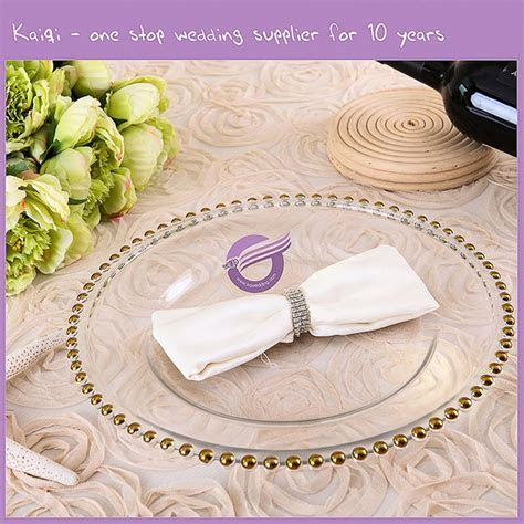 #18264 For Golden Weddings Disposable glass charger plates
