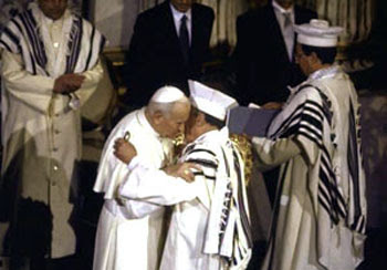 John Paul II Rabbi Toaff