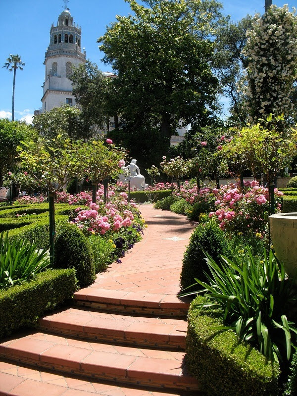 Gardens at Visually Stunning Homes Hearst Castle