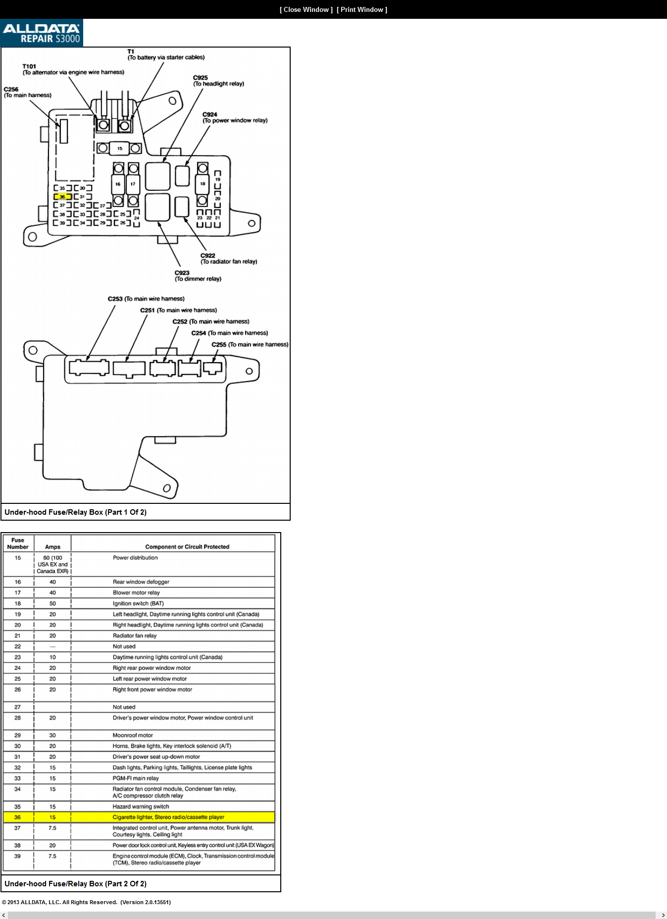 30 94 Honda Accord Fuse Box Diagram - Wiring Diagram List