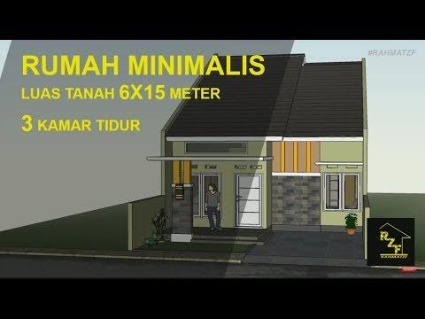 populer rumah minimalis luas tanah 6x15 meter dengan