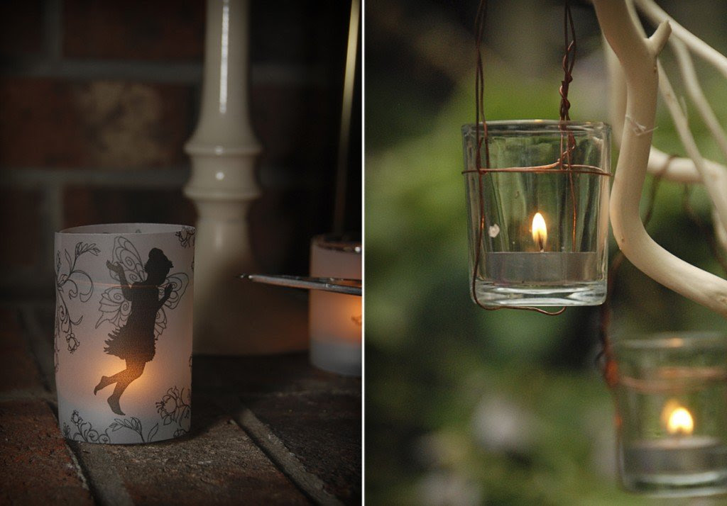 Más velas para fiestas de hadas.