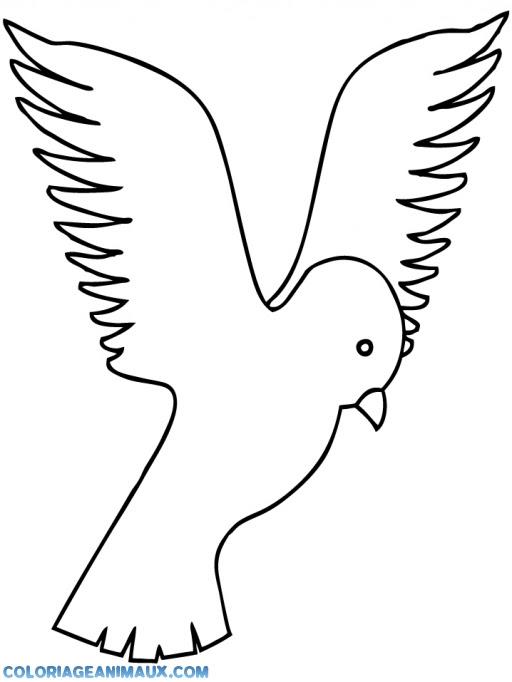 Coloriage Petit Oiseau Qui Vole à Imprimer