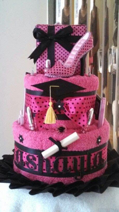 Graduation towel cake   Diaper Cakes, Towel Cakes