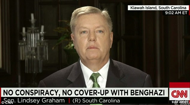 'Full of crap': Republican Senator Lindsey Graham lashed out at the report, which he said shows the GOP-led House Intelligence Committee is doing a 'lousy' job