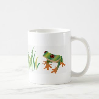 Tree Frog with Grass Coffee/Tea Mug