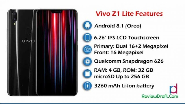 Vivo Z1 Lite Price in Bangladesh, Full Specification